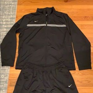 EUC Black Nike track suit